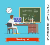 university student doing... | Shutterstock .eps vector #294346760