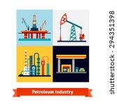 crude oil extraction  refining... | Shutterstock .eps vector #294351398