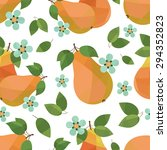 seamless pattern pears and... | Shutterstock .eps vector #294352823