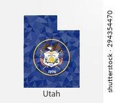 utah flag map in geometric... | Shutterstock .eps vector #294354470