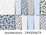 vector set of blue  white and...
