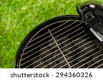small round charcoal grill... | Shutterstock . vector #294360326