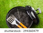 small round charcoal grill... | Shutterstock . vector #294360479
