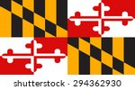 maryland state national flag.... | Shutterstock .eps vector #294362930
