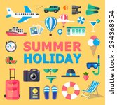 summer holiday. flat vector... | Shutterstock .eps vector #294368954
