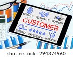 customer concept with business... | Shutterstock . vector #294374960