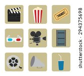 cinema icons set for use in... | Shutterstock .eps vector #294375698