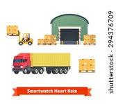 warehouse  logistics  trailer... | Shutterstock .eps vector #294376709