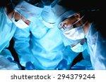 team surgeon at work in... | Shutterstock . vector #294379244