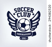 soccer club emblem  college... | Shutterstock .eps vector #294382520