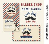vintage barber shop business... | Shutterstock .eps vector #294382538