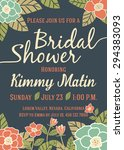 bridal shower invitation card... | Shutterstock .eps vector #294383093