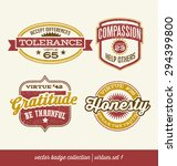 badge label collection with... | Shutterstock .eps vector #294399800