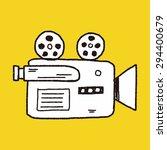 doodle video recorder | Shutterstock . vector #294400679
