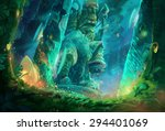 Illustration  A Cave Full Of...