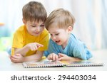 Kids Brothers Practice Reading...
