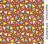 funny geometric background.... | Shutterstock .eps vector #294419990