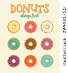 colorful vector donuts... | Shutterstock .eps vector #294431720