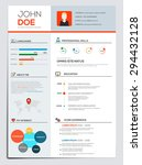 business resume with...   Shutterstock .eps vector #294432128
