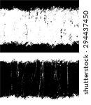 grunge textures set  vector... | Shutterstock .eps vector #294437450