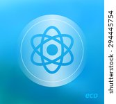 transparent ecology  icon on... | Shutterstock .eps vector #294445754
