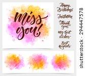 vector calligraphy on... | Shutterstock .eps vector #294447578