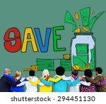 save saving investment finance... | Shutterstock . vector #294451130