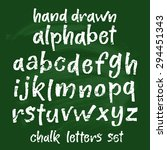 vector set with hand written... | Shutterstock .eps vector #294451343