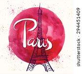 Paris. Vector Hand Drawn...