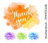 vector calligraphy on... | Shutterstock .eps vector #294452168