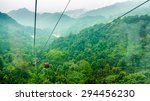 cable cars in mount qingcheng ...