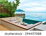 seaview from luxury resort... | Shutterstock . vector #294457088