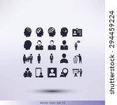 business man icons | Shutterstock .eps vector #294459224