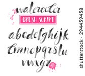 handwritten watercolor... | Shutterstock .eps vector #294459458