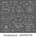 doodles border vector arrow... | Shutterstock .eps vector #294459749