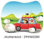 roadtrip to the countryside... | Shutterstock .eps vector #294460280