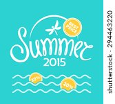 colorful lettering summer on... | Shutterstock .eps vector #294463220