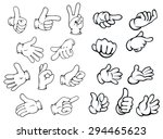 hand gestures and pointers in... | Shutterstock .eps vector #294465623