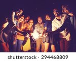 diverse ethnic friendship party ...   Shutterstock . vector #294468809