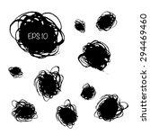 set of ragged ink spots.   Shutterstock .eps vector #294469460