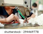portrait of worker using... | Shutterstock . vector #294469778