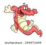 cartoon crocodile playing | Shutterstock .eps vector #294471449
