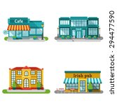 cafe bar and restaurant... | Shutterstock .eps vector #294477590