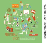 professional competitive... | Shutterstock .eps vector #294480596