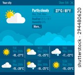 current weather condition and... | Shutterstock .eps vector #294480620