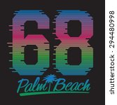 palm beach sport  typography  t ... | Shutterstock .eps vector #294480998