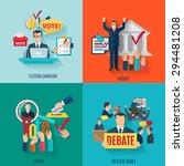election design concept set... | Shutterstock .eps vector #294481208