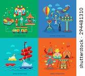 amusement park design concept... | Shutterstock .eps vector #294481310