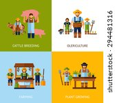 farmers design concept set with ... | Shutterstock .eps vector #294481316