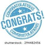 congratulations stamp   Shutterstock .eps vector #294482456